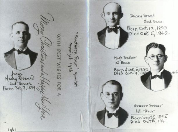 Harry Clay Leonard 2/2/1894-5/14/1967, Tailor and Musician married on 12/10/1913 Velma Chloe Ogden 3/26/1895-3/14/1952