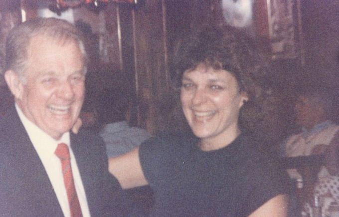 George and Sue at Dad's 70th, Ally-O's. Denton, TX