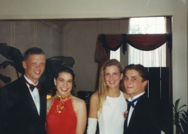 Gus and David with Prom dates in 1996, 774 Marble Canyon, Irving, TX