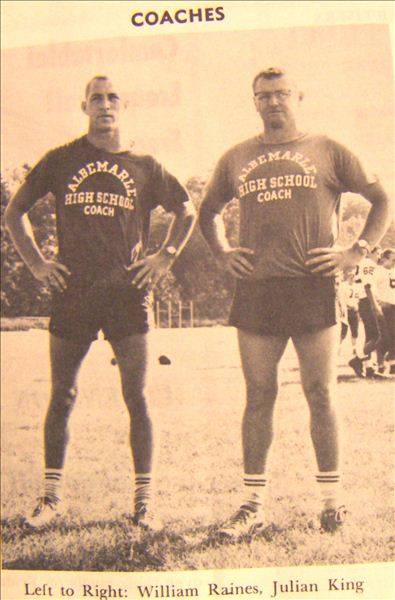 Coaches William Raines and Julian KIng, AHS '64-'65