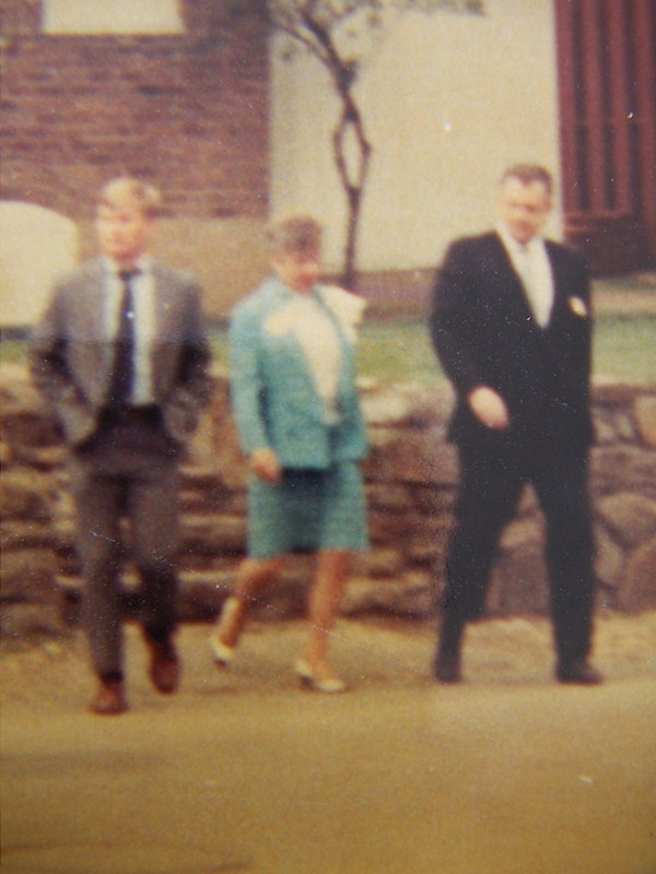 1968 Parents Weekend, leaving Fraternity House at Blacksburg, VA, Virginia Polytechnic Institute and State University